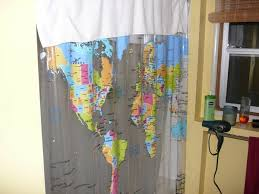 Shower Curtain Map World Map Shower Curtain Photo