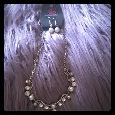 pearl rhinestone necklace images Paparazzi jewelry pearl rhinestone necklace earrings poshmark jpg