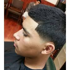 bald fade combover with hard part haircut by mariothebarber yelp