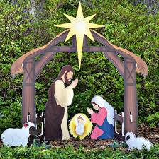 Outdoor Nativity Lighted - celebrate christmas with outdoor lighted nativity sets and statues