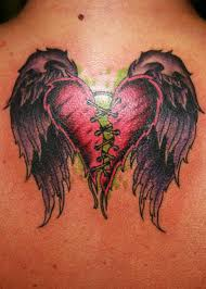 beautiful broken with wings design tattooshunter com
