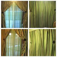 green curtain window treatment for sliding glass doors green