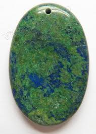 dark blue opal smooth pendants oval