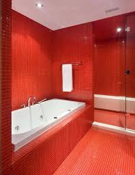 best tips to decorate red bathrooms for inspired and creative look