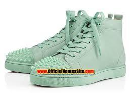 christian louboutin lou spikes men s basketball shoes green
