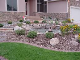 Rock Garden Beds Uncategorized Rock Lawn Ideas Within Trendy Small Rock Flower