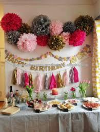 Pom Pom Decorations Kids Birthday Party Backdrop Ideas Tissue Paper Pom Poms Balls