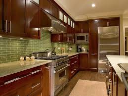 Green Tile Kitchen Backsplash by Kitchen Awesome Kitchen Countertops Ideas Decor With Brown