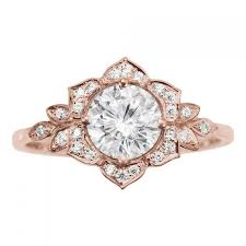 new vintage art deco style engagement rings vintage wedding ideas