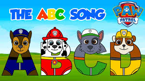 paw patrol abc song baby learning alphabet preschool
