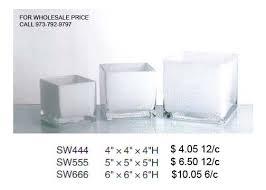 Square Glass Vase Square Cube White Glass Vase 4
