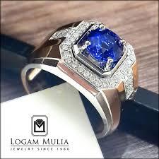 model cincin blue safir jual cincin berlian pria dg blue sapphire dvmc e178393 tlnd