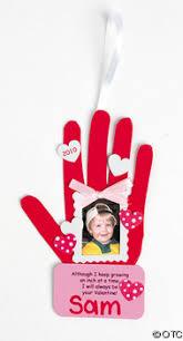 handprint photo frame ornament craft ideas for