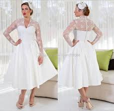 plus size wedding dresses with sleeves tea length plus size sheer garden v neck wedding dresses with sleeves