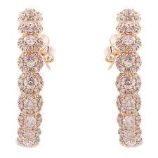 pink diamond earrings 6 08 carat pink diamond hoop earrings for sale at 1stdibs