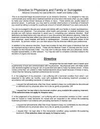 download texas living will form u2013 advance directive pdf