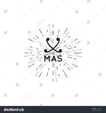 christmas logo vector retro design decorations stock vector