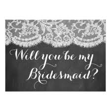 bridesmaid invitations uk blackboard bridesmaid invitations announcements zazzle co uk