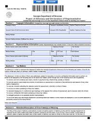 Irs Form 2848 Power Of Attorney by Georgia Tax Power Of Attorney Form Power Of Attorney Power Of