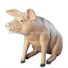 size pig fiberglass resin garden animals ornament