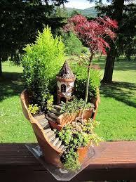 34 best broken pot diy fairy garden images on pinterest