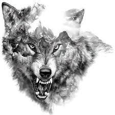 geometric hawk design wolf design wolf tattoos