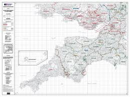 Wales England Map by Os Administrative Boundary Map Local Government Sheet 8 South