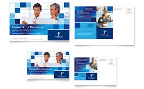 technology consulting u0026 it postcard template word u0026 publisher