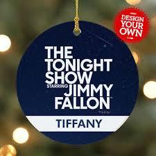 Tiffany Christmas Tree Ornament Personalized The Tonight Show Starring Jimmy Fallon Ornament