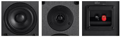 Bookshelf Speaker Design Select 5 25 Inch 2 Way Bookshelf Speakers Pair Black Finish