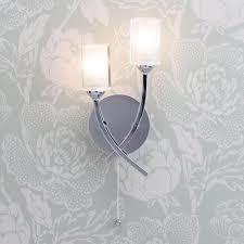 octi 2 light chrome wall light from litecraft