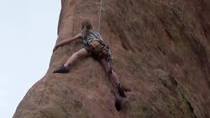 Rock Climbing Garden Of The Gods Wow Most Daring Small Child Rock Climb Montezuma S Tower Garden