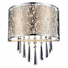 round fabric shade pendant light brizzo lighting stores 12 drago modern crystal round laser cut