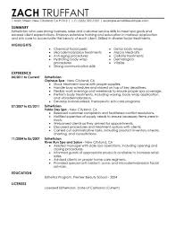 Job Resume Builder by Best Esthetician Resume Example Livecareer