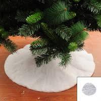 cheap tree skirt white free shipping tree