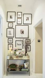 Mirrored Entry Table Lovable Small Entryway Wall Ideas Of Black Thin Photo Frames