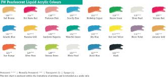 daler rowney fw ink colour chart multicolor pinterest ink