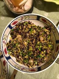 brown and rice with brussels sprouts gluten free vegan