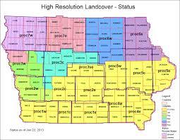 Map Of Iowa Counties Iowa Gis Service Bureau High Resolution Land Cover