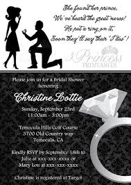what do you put on a bridal shower registry put a ring on it bridal shower invitation