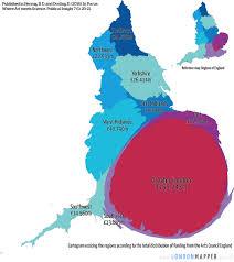 Cartogram Map Spending Cuts Art Meets Science Londonmapper