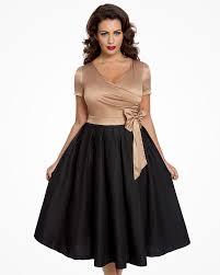 party dress gold black tea party dress vintage inspired fashion lindy bop