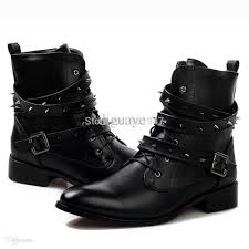 mens motorcycle riding boots wholesale cool stylish spike rivet studded leather motorcycle