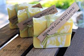 bridal shower soap favors bohemian bridal shower favors mossy creek soap