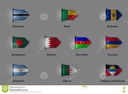 Botswana Flag Set Of Flags In The Form Of A Glossy Textured Label Or Bookmark
