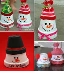clay pot snowman ornaments video tutorial clay craft and snowman