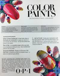 opi blendable nail lacquer 3 color set color paints