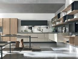 Italy Kitchen Design by Alieve In Light Oak And Glossy Lacquer Made In Italy By Stosa
