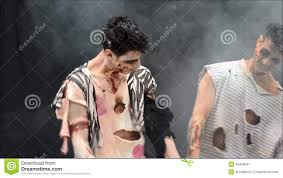 scary halloween background videos two male zombies standing moving on dark background background