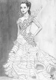 katniss everdeen wedding dress costume katniss everdeen wedding dress by mercantille on deviantart